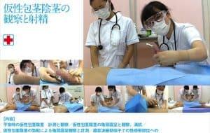 女子医大生のための男性器生理学講座 射精の観察② 仮性包茎陰茎の観察と射精