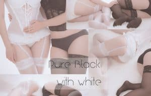 [Pure系列] pure black with white